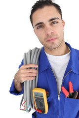 Portrait of an electrician