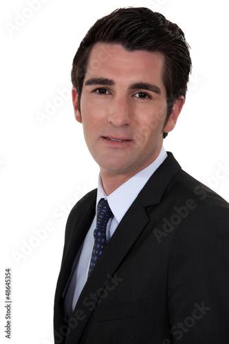 A portrait of a businessman.