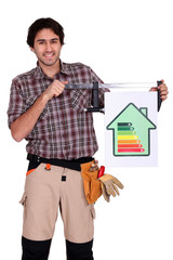 craftsman shows house with energy rating