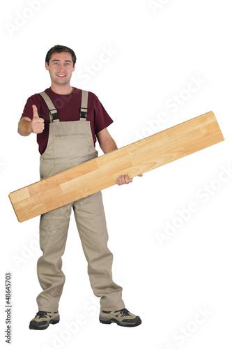 Handyman giving the thumb's up