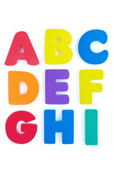 colourful Rubber alphabet  isolated on white background