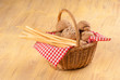 Traditional bread basket
