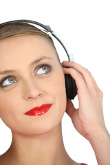 Pretty girl with headphones