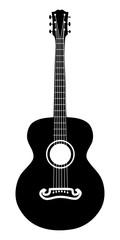Acoustic guitar silhouette