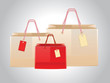 Shopping bags with tags