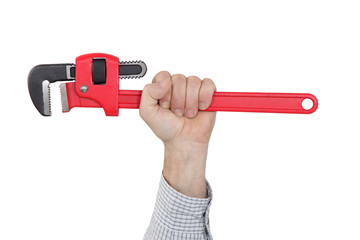 Close-up of adjustable wrench