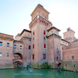 moat and Castello Estense in Ferrara