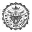Stamp rock festival. Vector illustration.