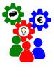 Teamwork Geld-Idee-Kommunikation