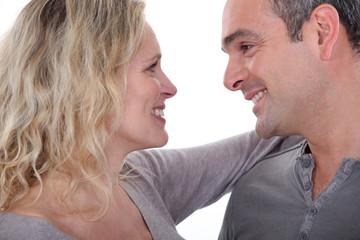 mature couple embracing
