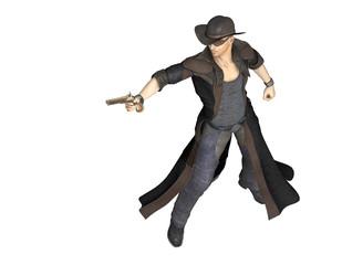 junger Cowboy mit Pistole