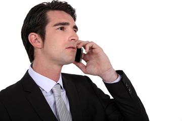 Executive using a cellphone