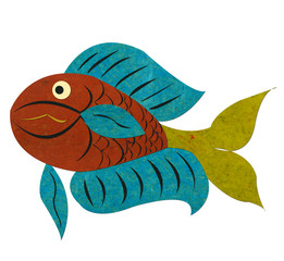 Fish,-paper-tag-craft-isolated.