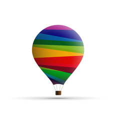 Vector Logo hot-air balloon