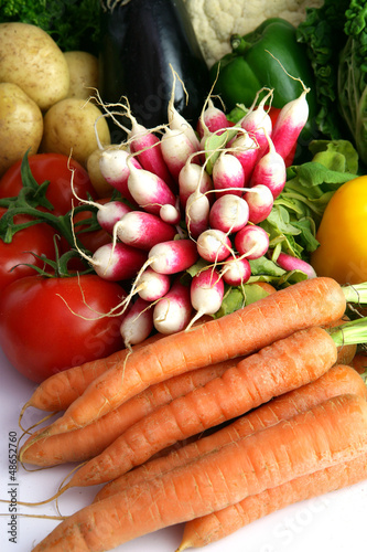 Radishes and other vegetables