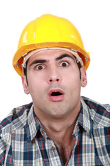 An astonished tradesman