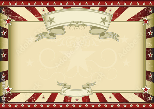 Textured red retro certificate