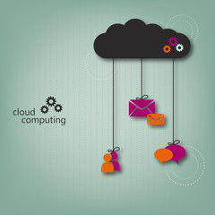 Cloud computing concept - eps10