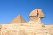 Great Sphinx of Giza with Great Pyramid, Egypt