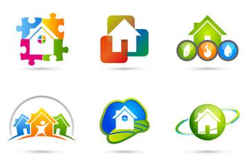 Logo maison habitat x 6