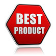 best product hexagon button