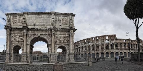 Arco de Constantino y Coliseo (Roma)