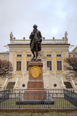 Statue of Johann Wolfgang Goethe. Leipzig, Germany