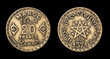 Antique coin of 20 francs