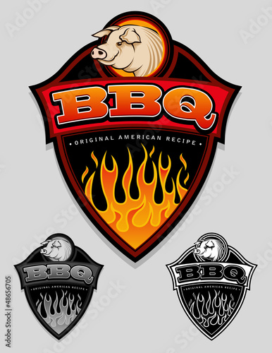 BBQ - Original American Recipe Seal / Badge
