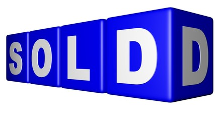 Sold blue cubes