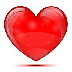 Bright glass heart