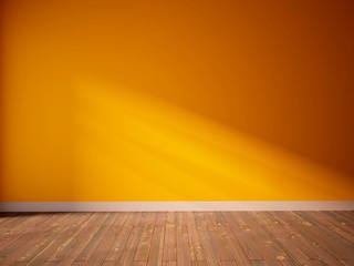 orange empty interior