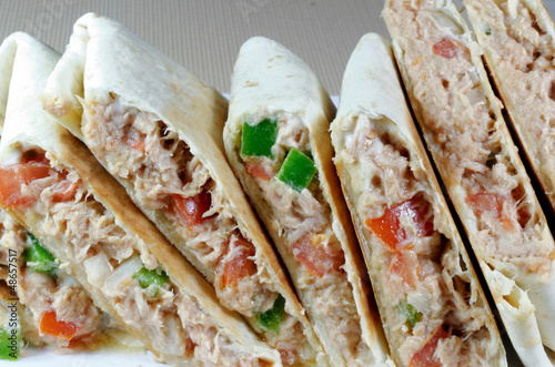 Toasted Tuna Wraps
