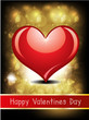 abstract glossy love card