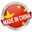 "Button mit Banner ""Made in China"""