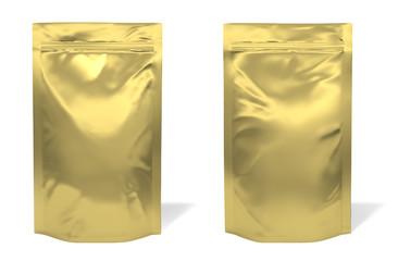 Golden foil bag package