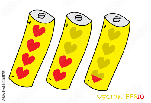 Love battery.Vector