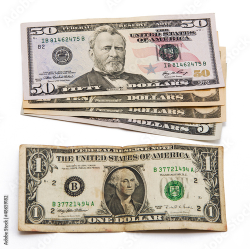 stack of dollar bills united states