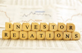 Letter Dices Concept: Investor Relations poster