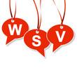 Sprechblasen-Anhänger mit WSV