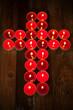 Kreuz aus Lichtern
