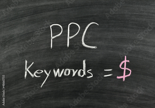 PPC,pay per click written on blackboard