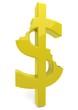 Dollarzeichen in Gold zweimal Abgebissen