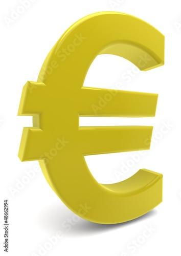 Eurozeichen in Gold