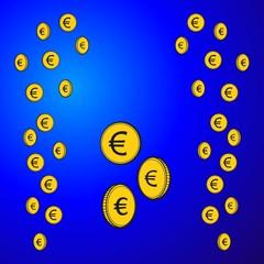 Geld ~ Geldregen ~ Goldregen ~ Euro - v2