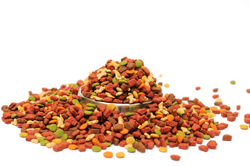 Different types of dry food for pets