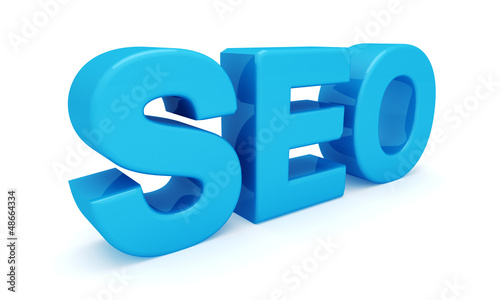 SEO 3D blue letters (Search engine optimization)