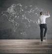 Leinwandbild Motiv Global business