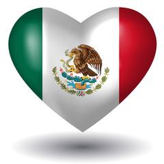 Herz mit Schatten - Mexiko