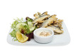 Whitebait on a plate